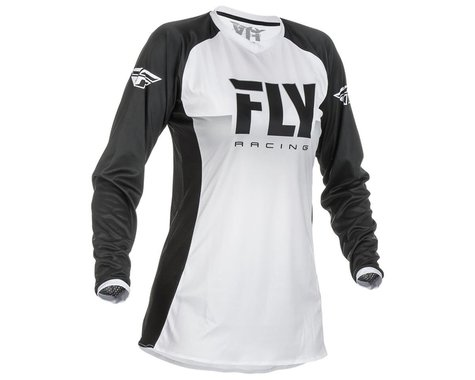 Fly Racing Girl's Youth Lite Jersey (White/Black) (Youth S)