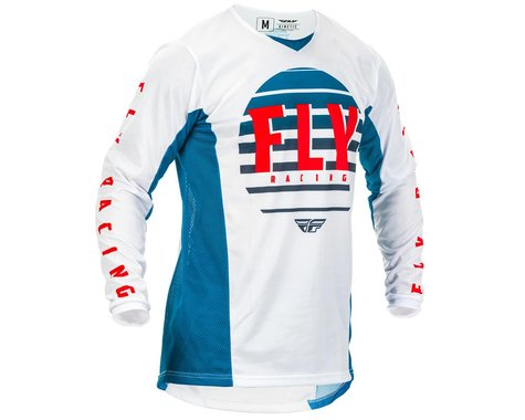 Fly Racing Youth Kinetic K220 Jersey (Blue/White/Red) (YL)