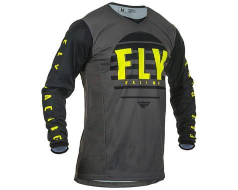 Fly Racing Youth Kinetic K220 Jersey (Black/Grey/Hi-Vis) (YL)