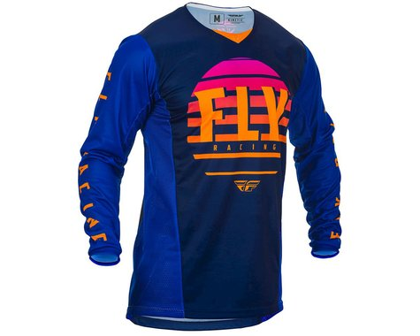 Fly Racing Youth Kinetic K220 Jersey (Midnight/Blue/Orange) (YL)