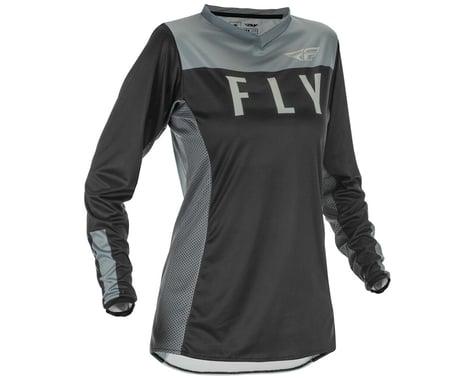 Fly Racing Women's Lite Jersey (Black/Grey) (XL)
