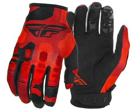 Fly Racing Kinetic K220 Gloves (Red/Black) (Youth S)
