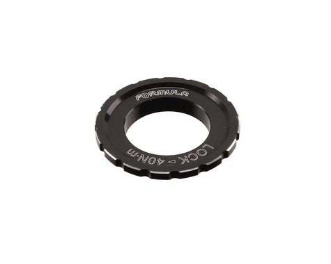 Formula Italy Centerlock Disc Brake Rotor Lockring (Black) (1) (35mm)