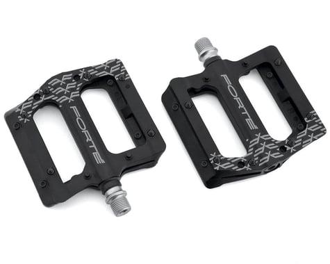 Forte Transfer Platform Flat Pedals (Black)