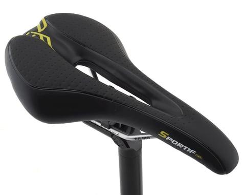 Forte Sportif Gel Saddle (Black) (Chromoly Rails)