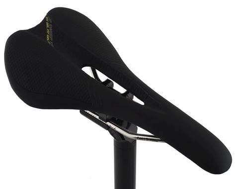 Forte Sweep Gel Fit Saddle (Black) (Titanium Rails) (145mm)