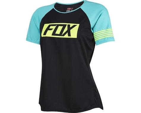 Fox Racing Women's Ripley Short Sleeve Jersey (Matte Black/Green)