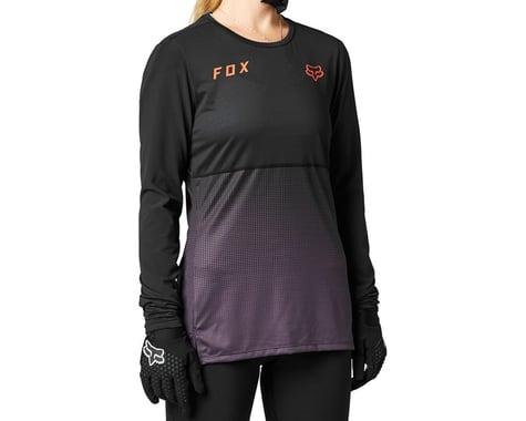 Fox Racing Women's Flexair Long Sleeve Jersey (Black/Purple) (S)