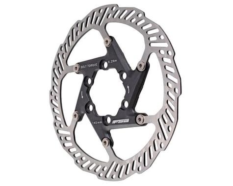 FSA K-Force 2 Piece Disc Brake Rotor (Black) (6-Bolt) (1)
