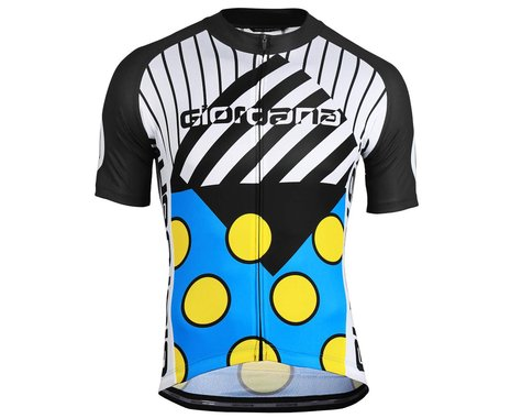 Giordana Motivo 2 Jersey (Blue/Black/White/Yellow) (XS)