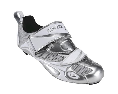 Giro Women's Facet Tri Triathlon Shoes (Silver)