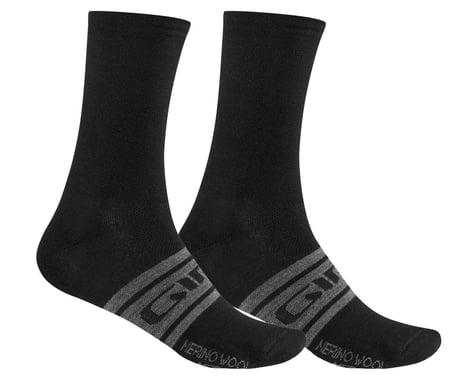 Giro Merino Seasonal Wool Socks (Black/Charcoal Clean) (S)