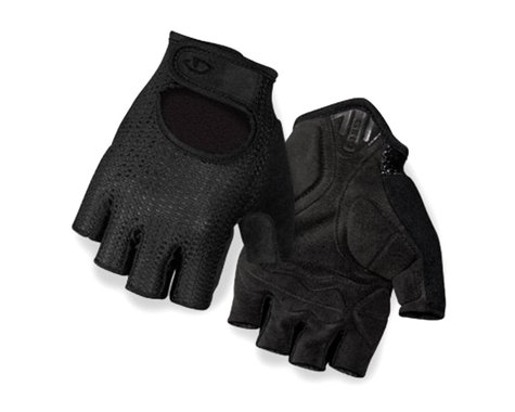 Giro SIV Retro Short Finger Bike Gloves (Black) (XS)