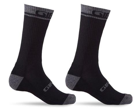Giro Winter Merino Wool Socks (Black/Dark Shadow) (S)