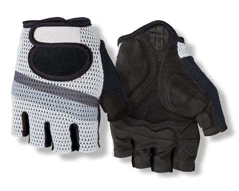 Giro SIV Retro Short Finger Bike Gloves (White/Grey Stripe) (XS)
