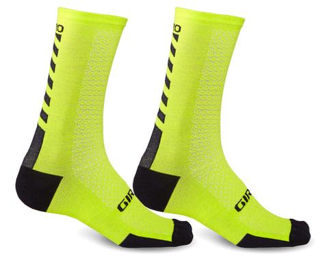 Giro HRc+ Merino Wool Socks (Bright Lime/Black) (M)