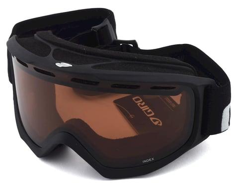 Giro Index Goggles (Black Wordmark/AR40) (Over Glasses)