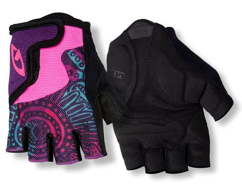 Giro Bravo Jr Gloves (Pink Swirl/Black) (Youth XS)