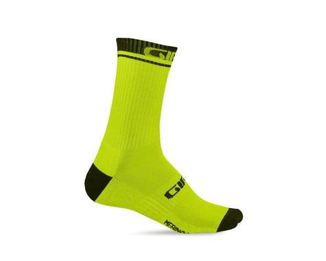 Giro Winter Merino Wool Socks (Lime/Black) (S)