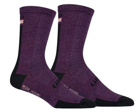 Giro HRc+ Merino Wool Socks (Purple/Black) (M)