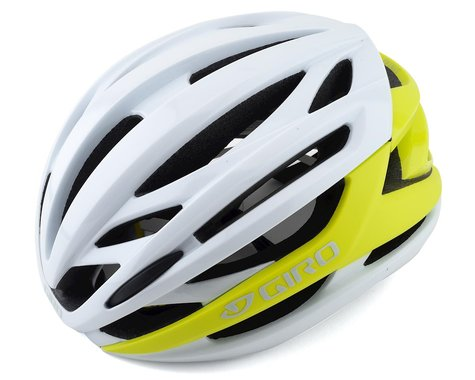Giro Syntax MIPS Road Helmet (Matte Citron/White)