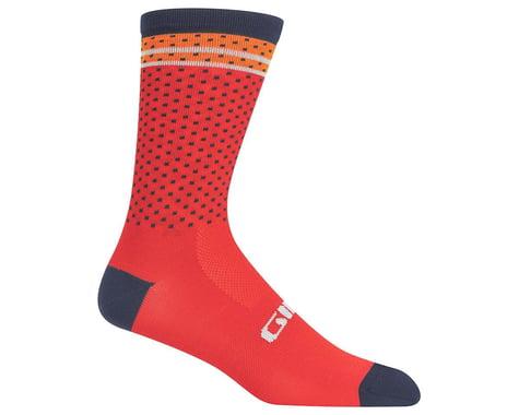 Giro Comp Racer High Rise Socks (Red/Orange Toner)
