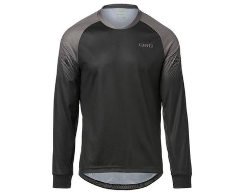 Giro Men's Roust Long Sleeve Jersey (Black/Charcoal Transition) (S)