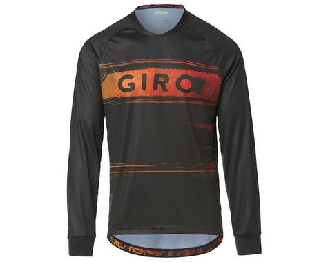 Giro Men's Roust Long Sleeve Jersey (Black/Red Hypnotic) (S)