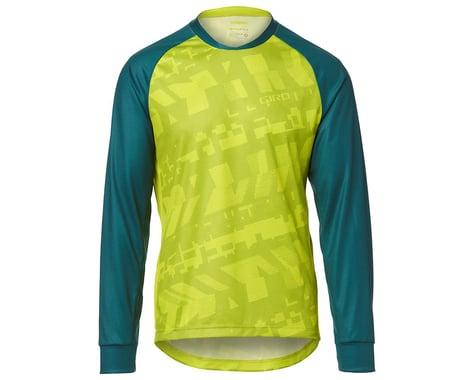 Giro Men's Roust Long Sleeve Jersey (Citron Green Fanatic) (S)