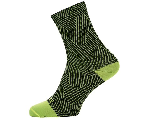 Gore Wear C3 Mid Socks (Neon Yellow/Black) (S)