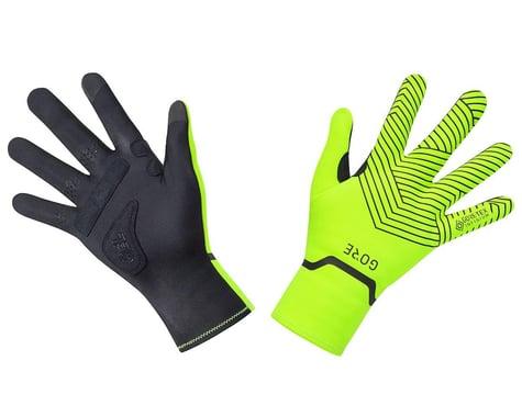 Gore Wear C3 Gore-Tex Infinium Stretch Mid Gloves (Neon Yellow/Black) (2XL)