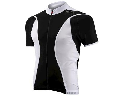 Gore Wear Oxygen FZ Short Sleeve Jersey (Black/White)