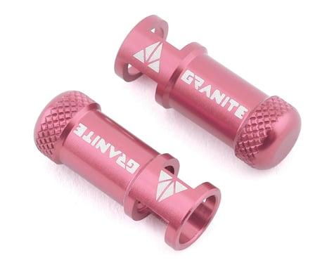 Granite-Design Juicy Nipples Presta Valve Core Remover Caps (Pink) (2)