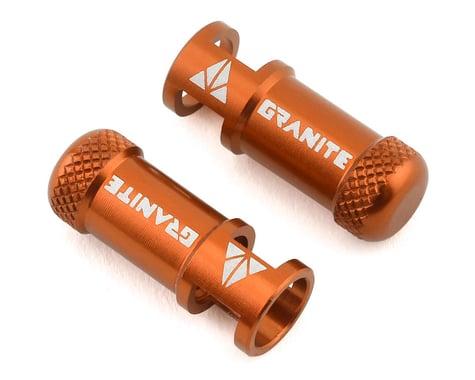 Granite-Design Juicy Nipples Presta Valve Core Remover Caps (Orange) (2)