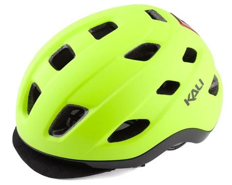 Kali Traffic Helmet w/ Integrated Light (Matte Fluorescent Yellow) (S/M)