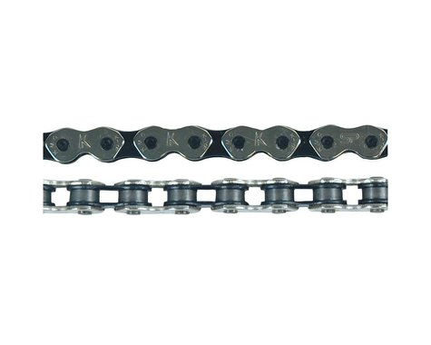 KMC K710 Kool Chain (Silver/Black) (112 Links)