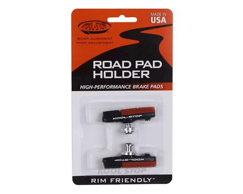 Kool Stop Dura 2 road pads, holder with pads - black  pr