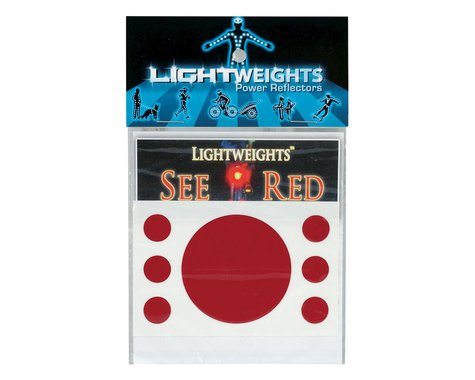 Lightweights Reflector Lw Safety Dots 7P Red