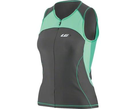 Louis Garneau Women's Comp Sleeveless Jersey  (Black/Green)