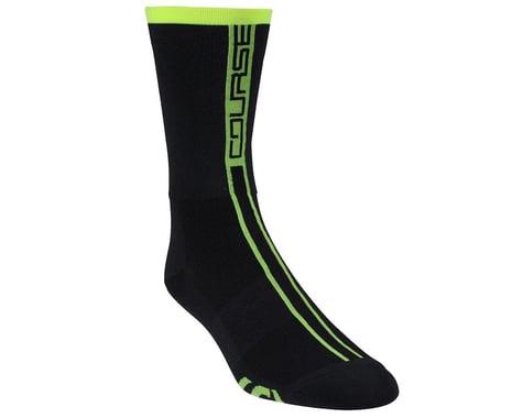 Louis Garneau Course Socks (Matte Black/Yellow)