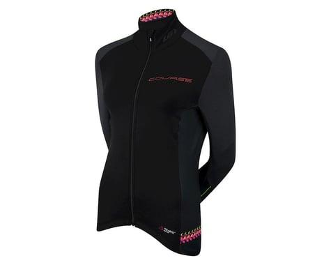 Louis Garneau Women's Course Wind Pro Long Sleeve Jersey (Black/Pink)