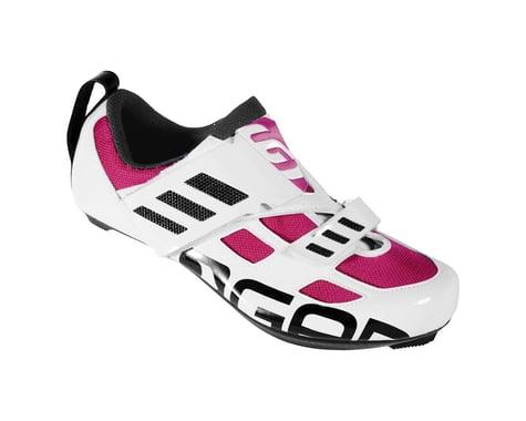 Louis Garneau Women's Tri Evo Triathlon Shoes - Performance Exclusive (White/Magenta) (43)