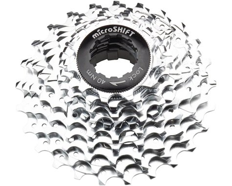 Microshift G10 10-Speed Cassette w/ Spider (Silver/Chrome Plated) (11-25T)