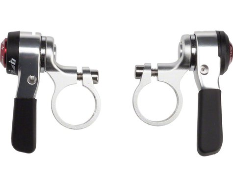 Microshift Thumb Shifter Set (Silver)