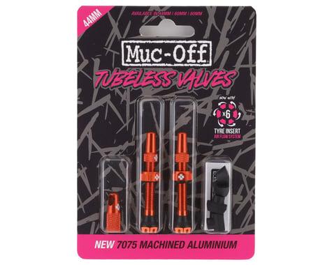 Muc-Off V2 Tubeless Presta Valves (Orange) (Pair) (44mm)