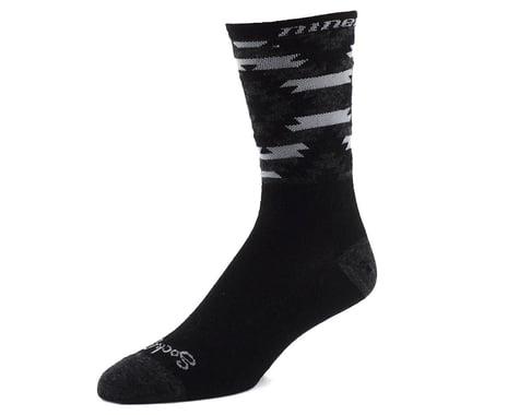"Niner SockGuy Wool 6"" Serape Socks (Grey/Black) (L/XL)"