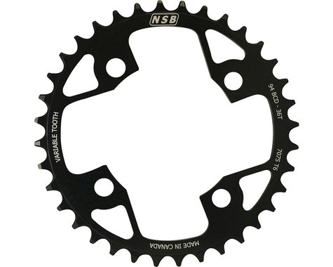 North Shore Billet Variable Tooth Chainring (Black) (94mm BCD) (Offset N/A) (36T)