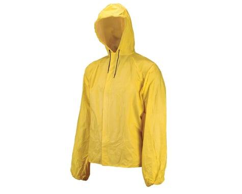 O2 Rainwear Hooded Rain Jacket w/ Drop Tail (Yellow) (M)