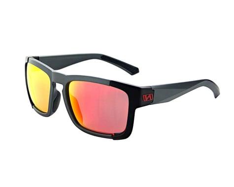 Optic Nerve Vettron Sunglasses (Matte Carbon/Black) (Smoke Red Mirror Lens)