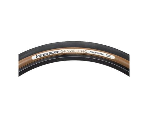 Panaracer Gravelking Slick Tubeless Gravel Tire (Black/Brown) (650b) (42mm)